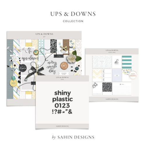 Ups & Downs Digital Scrapbook Collection | Sahin Designs