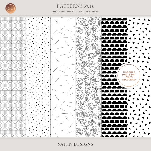Digital Tileable Patterns No.16 - Sahin Designs - Commercial Use Digital Scrapbooking