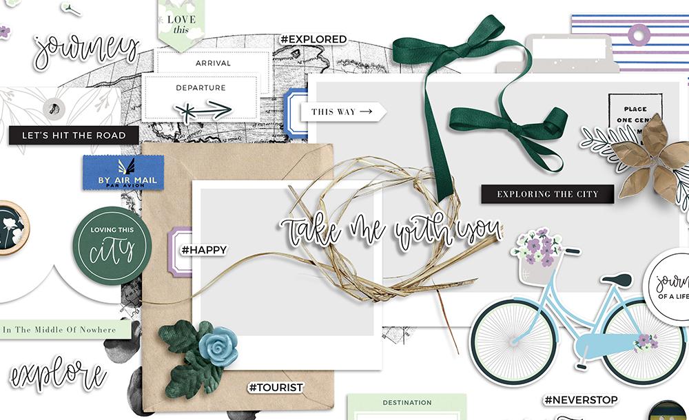 Travelogue Digital Scrapbook Collection - Sahin Designs