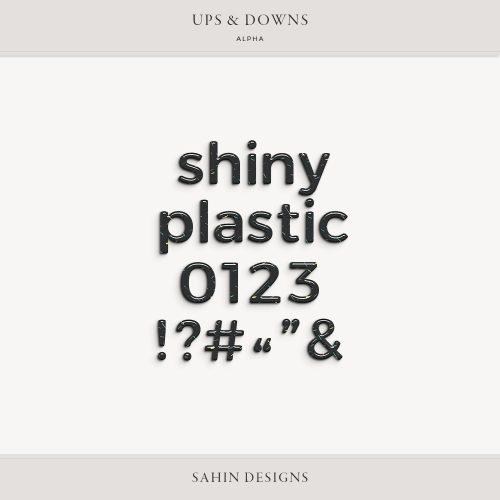 Ups & Downs Digital Scrapbook Alpha - Sahin Designs