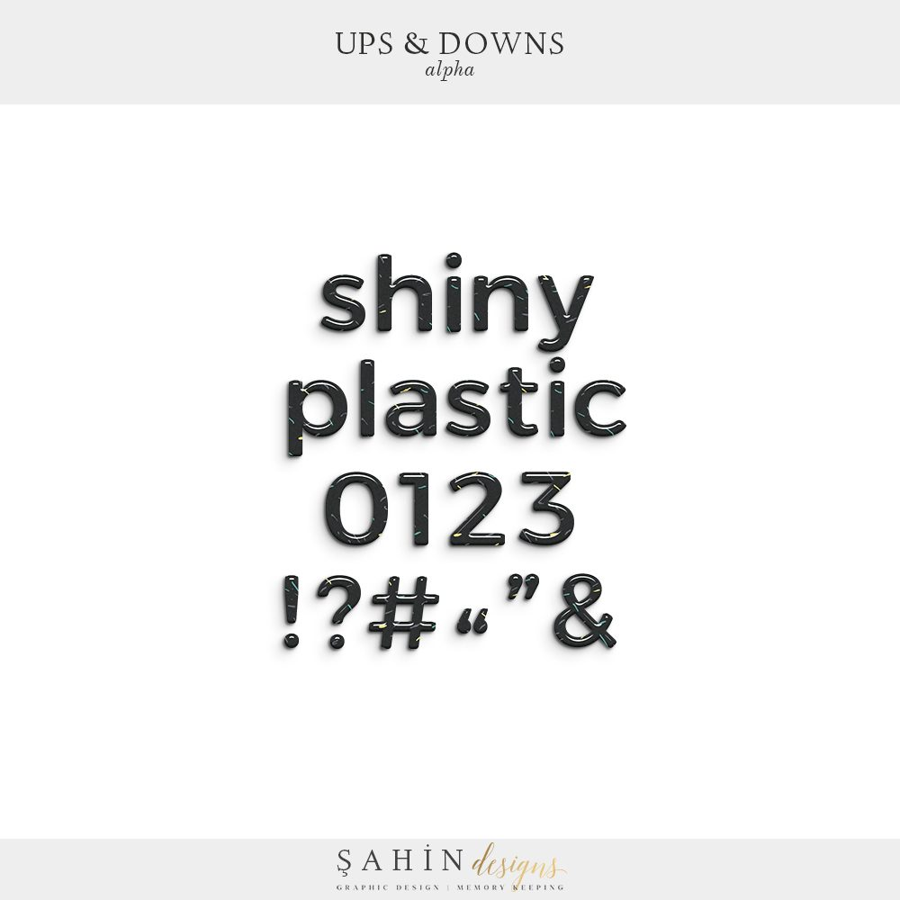 Ups & Downs Digital Scrapbook Alphabet   Sahin Designs