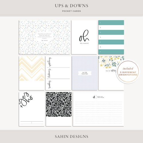 Ups & Downs Printable Pocket Cards - Sahin Designs