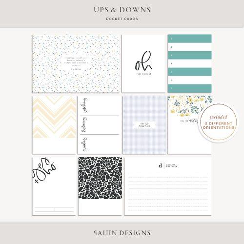 Ups & Downs Printable Pocket Cards - Sahin Designs