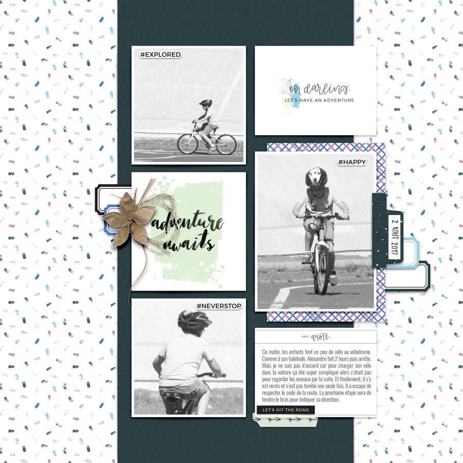 Bicycle Digital Scrapbook Layout - Sahin Designs