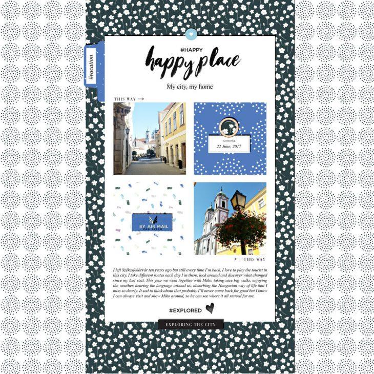 Travel Digital Scrapbook Layout - Sahin Designs