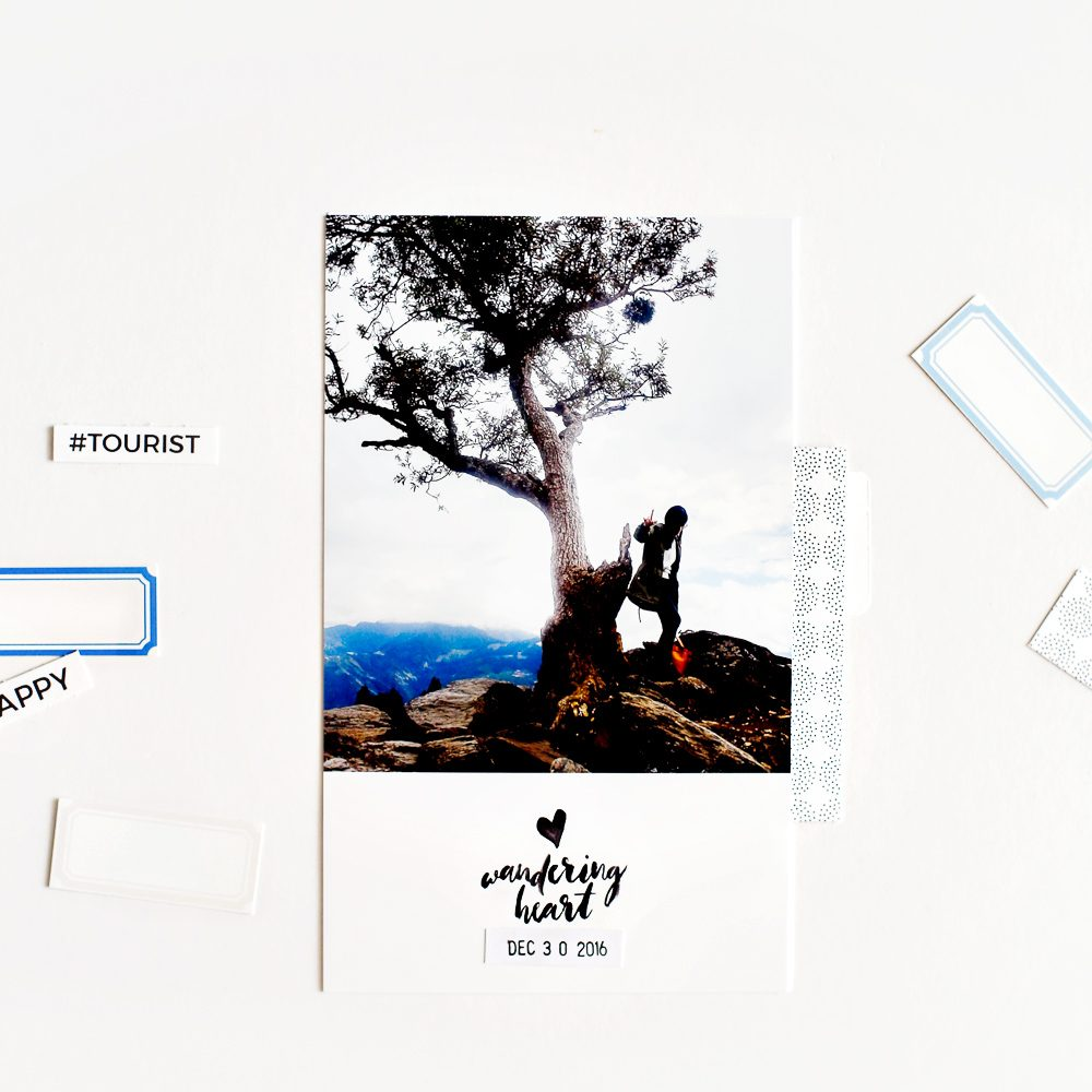 Travel Pocket Scrapbook Layout - Sahin Designs