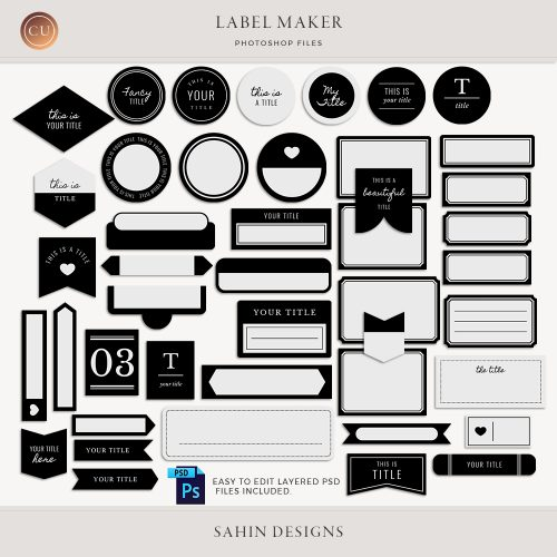 Label Maker - Sahin Designs - CU Digital Scrapbooking