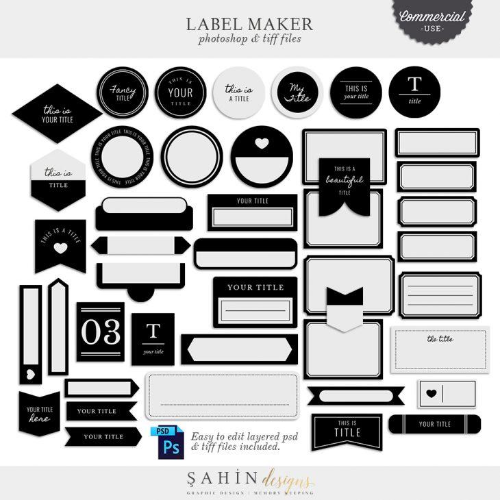 Label Maker - Sahin Designs - CU Digital Scrapbooking