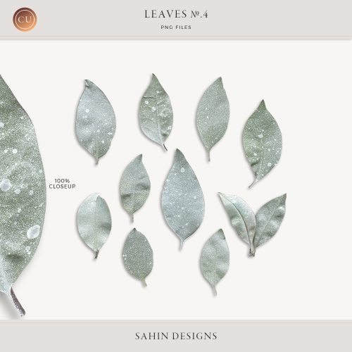 Extracted Spray Painted Leaves - Sahin Designs - CU Digital Scrapbooking