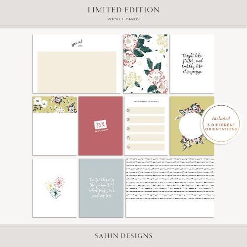 Limited Edition Printable Pocket Cards - Sahin Designs