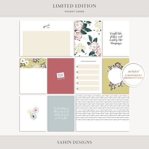 Limited Edition Printable Pocket Cards - Sahin Designs