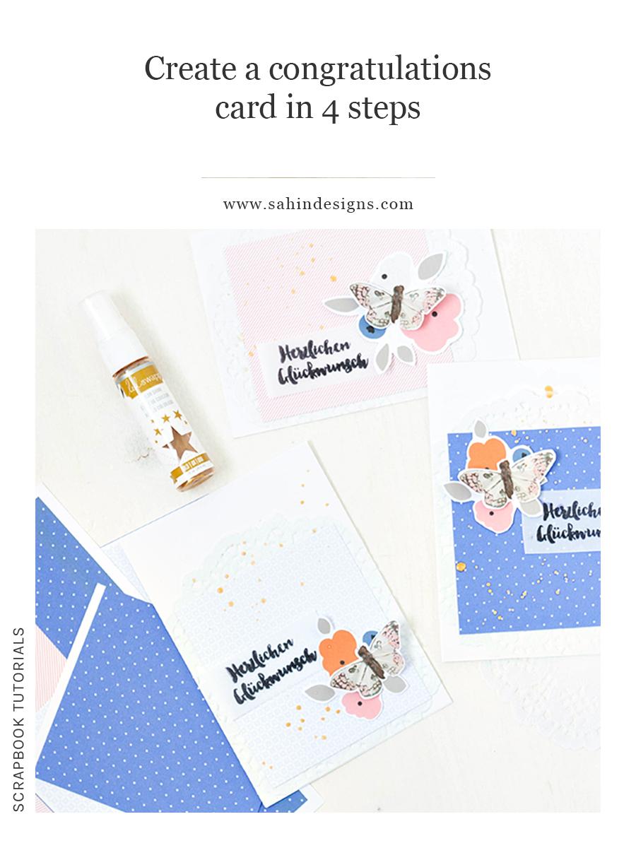 Create a congratulations card in 4 steps - Sahin Designs