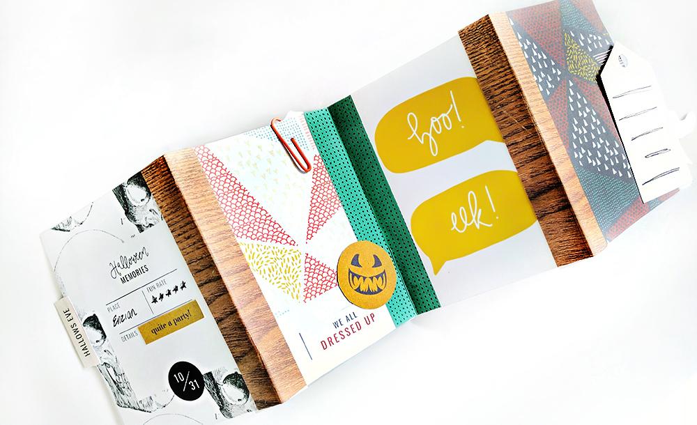 How to Make a Halloween Mini Accordion Album - Sahin Designs