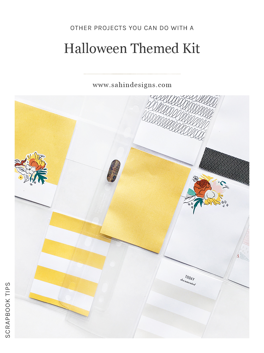 Other projects you can do with a Halloween themed kit - Sahin Designs