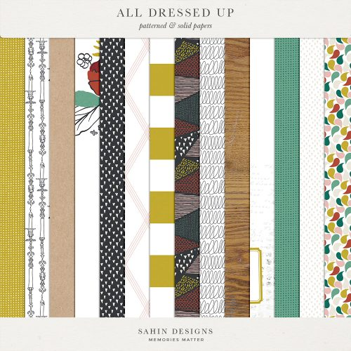 All Dressed Up - Halloween Digital Scrapbook Papers - Sahin Designs