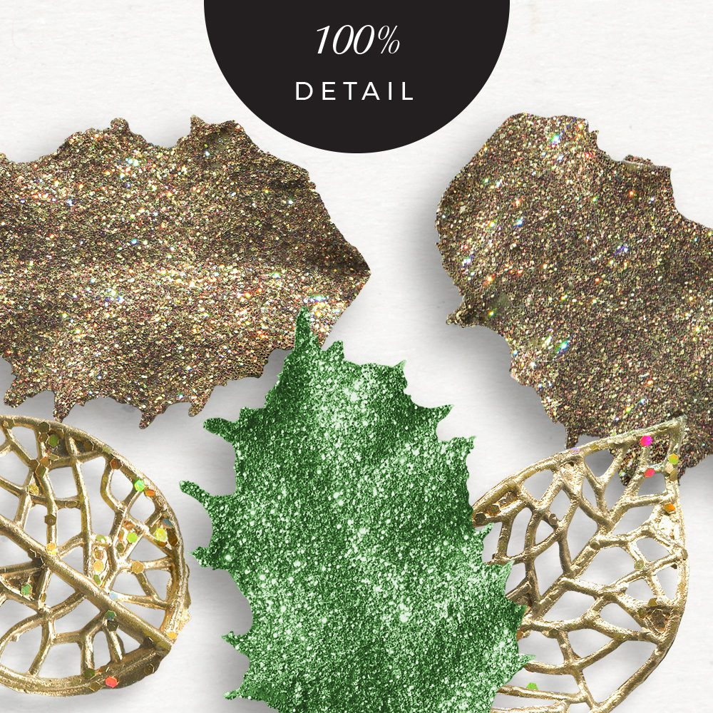 Extracted glittery leaves - Sahin Designs - CU Digital Scrapbook