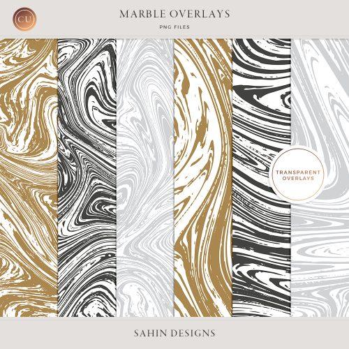 Transparent Marble Overlays - Sahin Designs - CU Digital Scrapbooking
