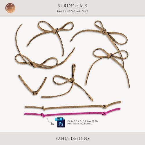 Extracted Leather Strings - Sahin Designs - CU Digital Scrapbook