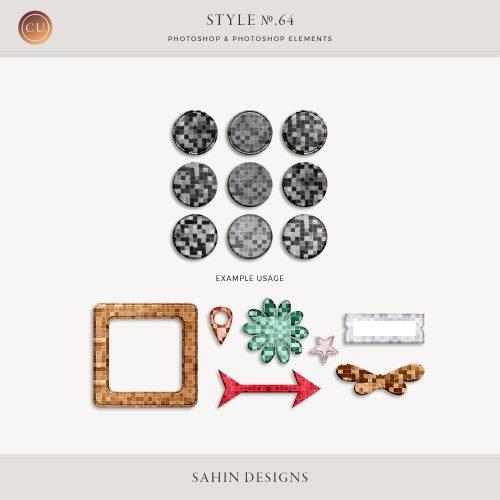Mosaic Photoshop layer styles - Sahin Designs - CU Digital Scrapbooking