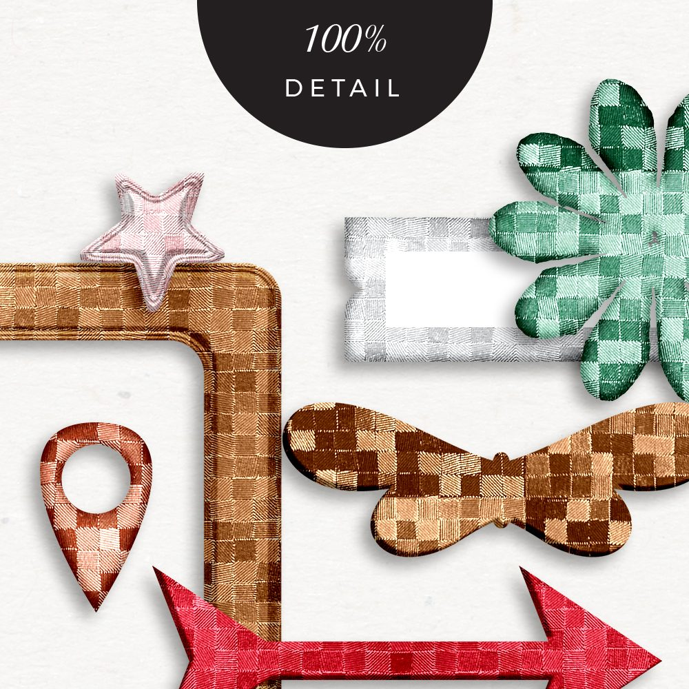 Mosaic Photoshop layer styles - Sahin Designs - CU Digital Scrapbooking
