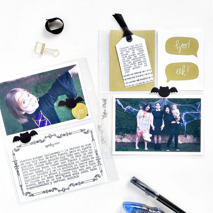 Halloween Pocket Scrapbook Layout - Sahin Designs