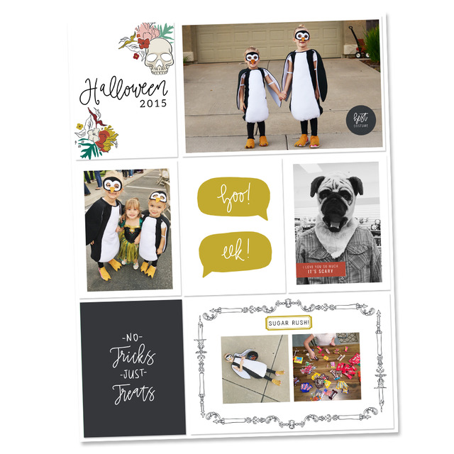 Halloween Pocket Scrapbook Layout - Sahin Designs