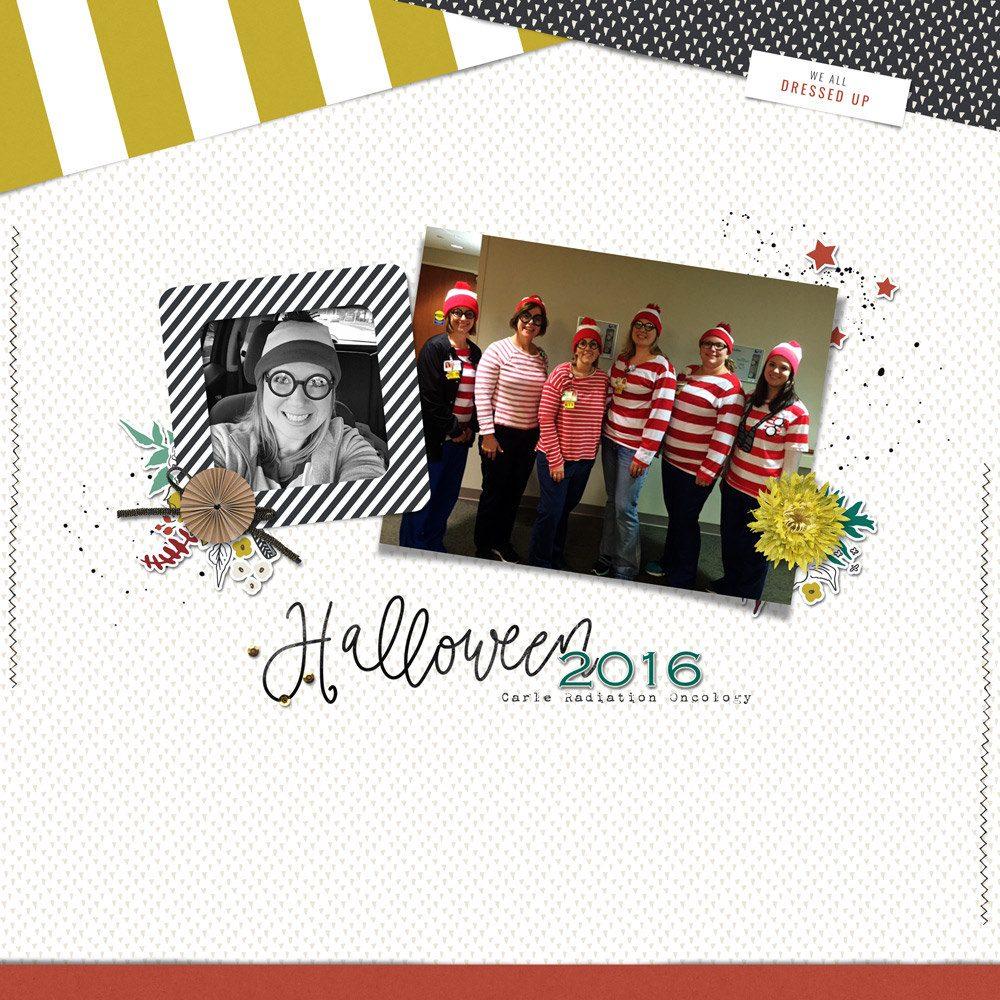 Halloween Digital Scrapbook Layout - Sahin Designs