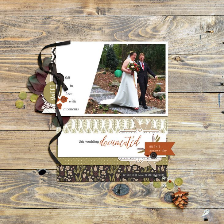 Autumn Wedding Digital Scrapbook Layout - Sahin Designs