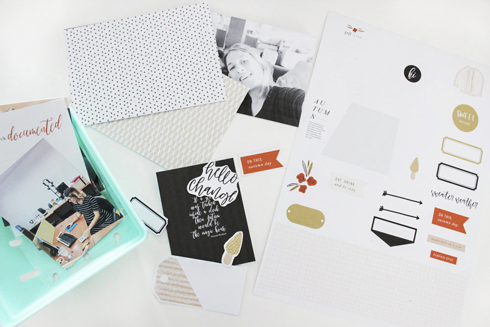 4 Easy steps for first time hybrid Project Life scrapbooking - Sahin Designs