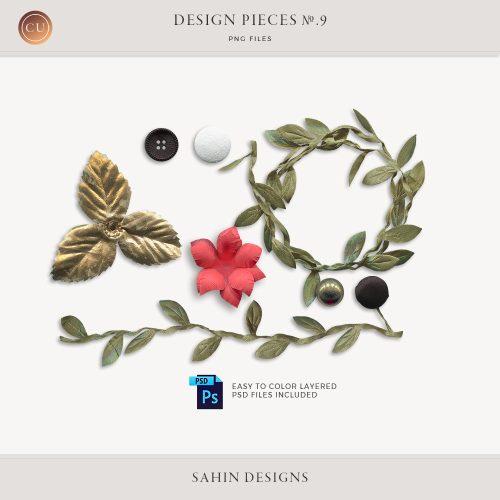 Design Pieces No.9 - Extracted realistic objects - Sahin Designs - CU Digital Scrapbook