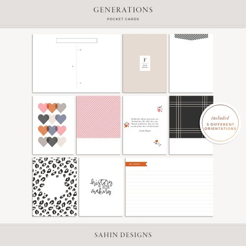 Generations Printable Pocket Cards - Sahin Designs