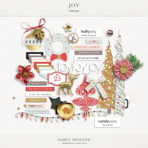 Joy Digital Scrapbook Elements - Sahin Designs
