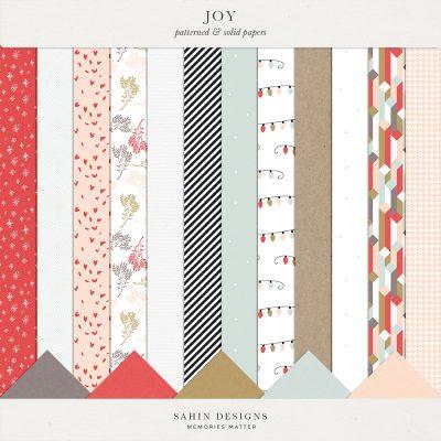 Joy Digital Scrapbook Papers - Sahin Designs