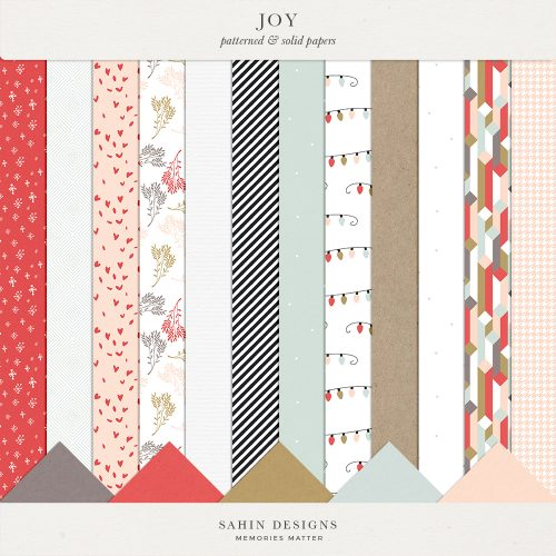 Joy Digital Scrapbook Papers - Sahin Designs