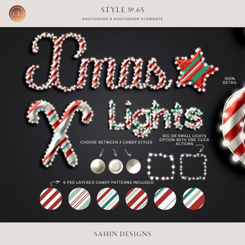 Light String & Candy Photoshop layer styles - Sahin Designs - CU Digital Scrapbook