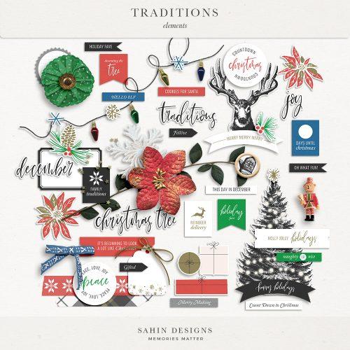 Traditions Digital Scrapbook Elements - Sahin Designs