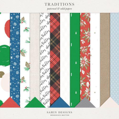Traditions Digital Scrapbook Papers - Sahin Designs