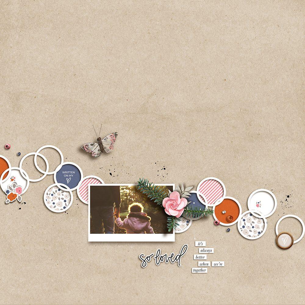 Family Digital Scrapbook Layout - Sahin Designs