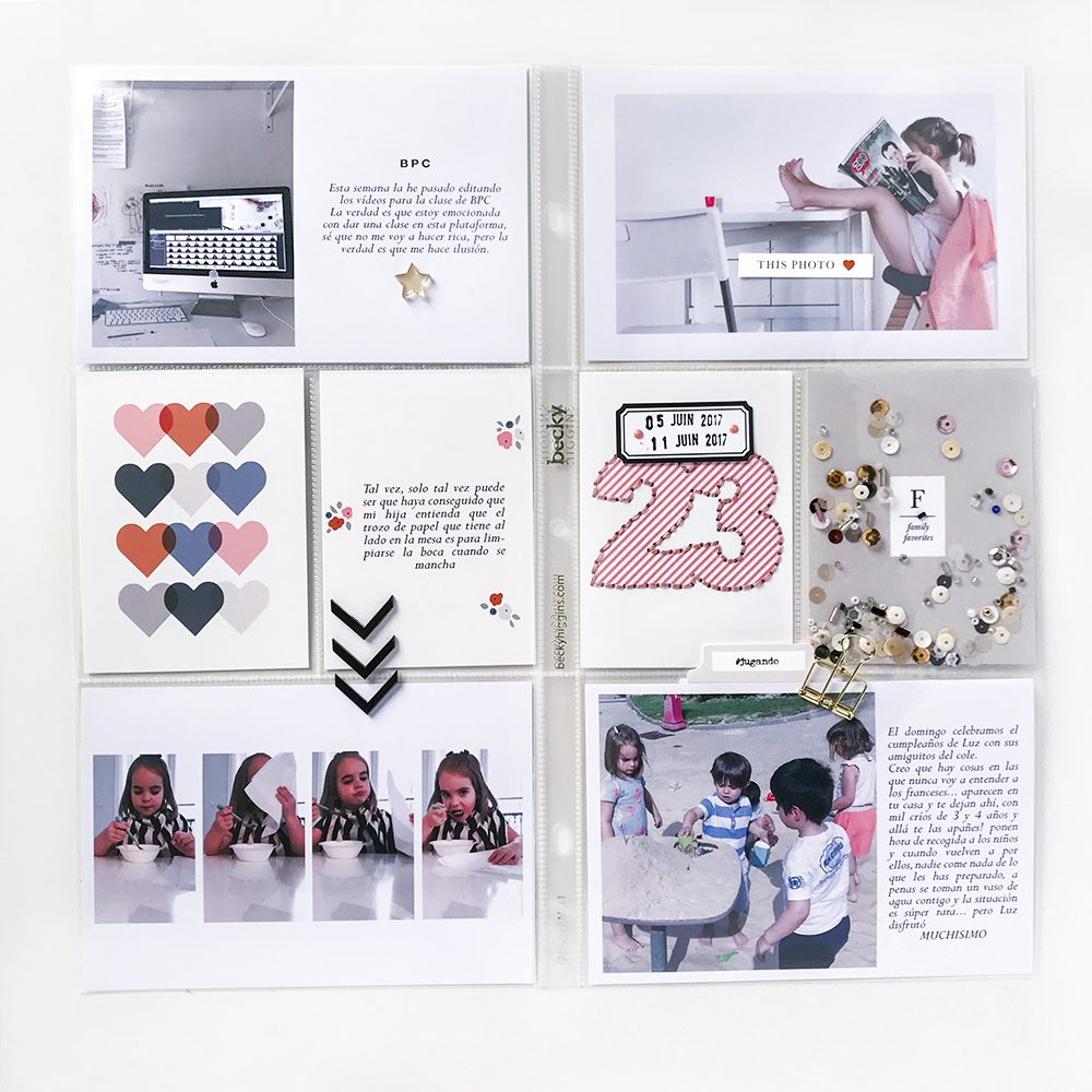 Family Pocket Scrapbook Layout - Sahin Designs