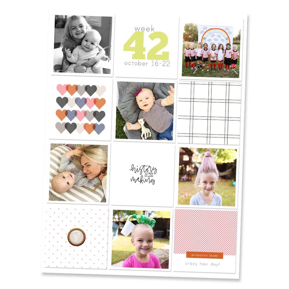 Family Pocket Scrapbook Layout - Sahin Designs