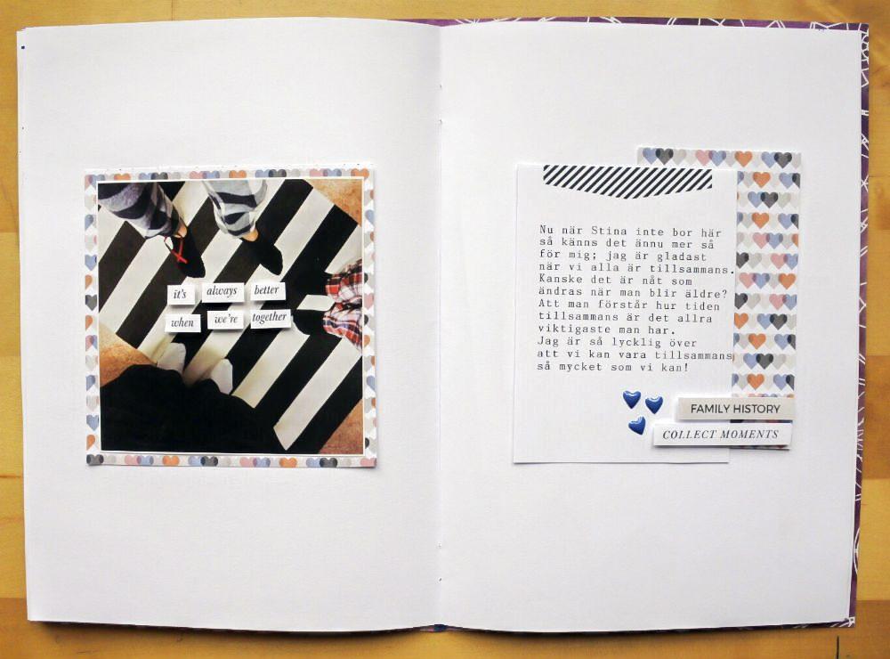 Family Hybrid Scrapbook Layout - Sahin Designs