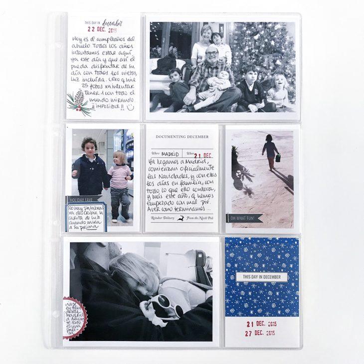 Christmas pocket scrapbook layout - Sahin Designs