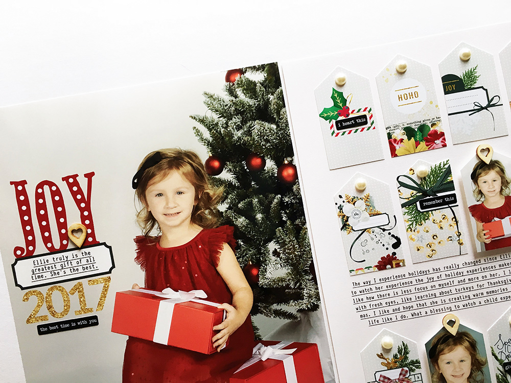 Christmas Hybrid Scrapbook Layout - Sahin Designs