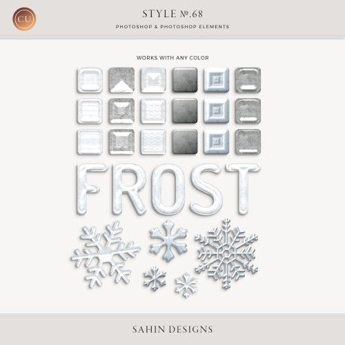 Frost Photoshop layer styles - Sahin Designs - CU Digital Scrapbook