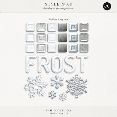 Frost Photoshop layer styles - Sahin Designs - CU Digital Scrapbook