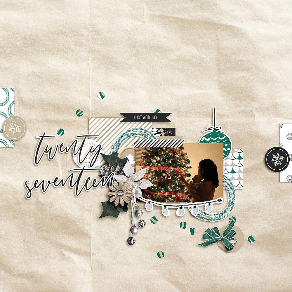 Christmas digital scrapbook layout - Sahin Designs