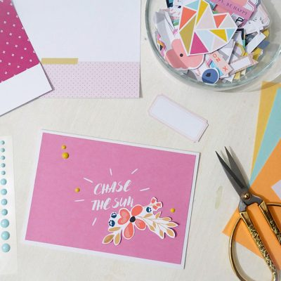 How to use your scrapbook stash to create cards - Sahin Designs