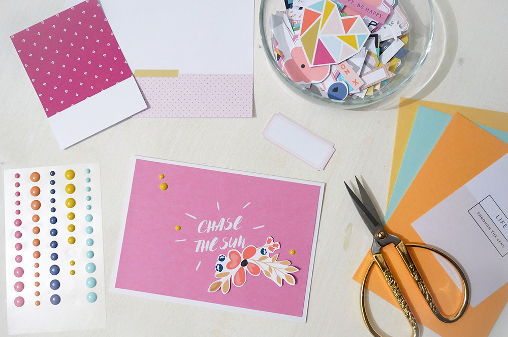 How to use your scrapbook stash to create cards