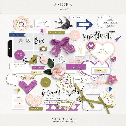 Amore Digital Scrapbook Elements - Sahin Designs
