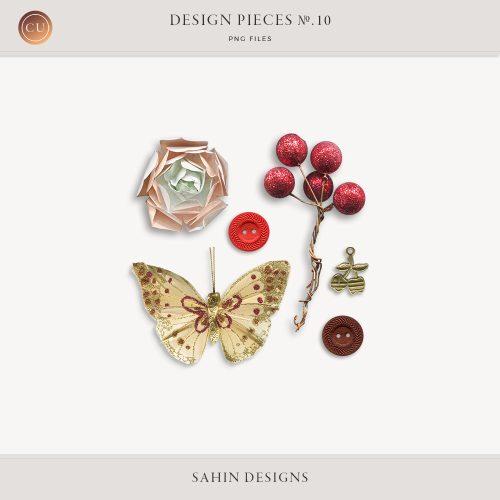 Design Pieces No.10 - Sahin Designs - CU Digital Scrapbook